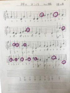 ハンドベル楽譜